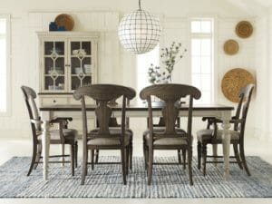 2040 Dining Room with Dark Elm Finish Splat Back Chairs