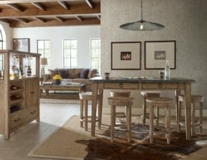 2281 Informal Dining Table and Stools