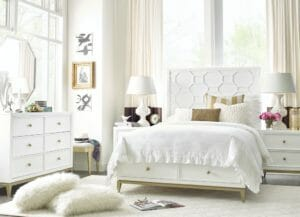 3240 Bedroom with Lattice Headboard