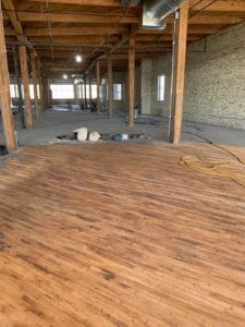 Bachman Furniture Restoration Project - Laying the Hardwood
